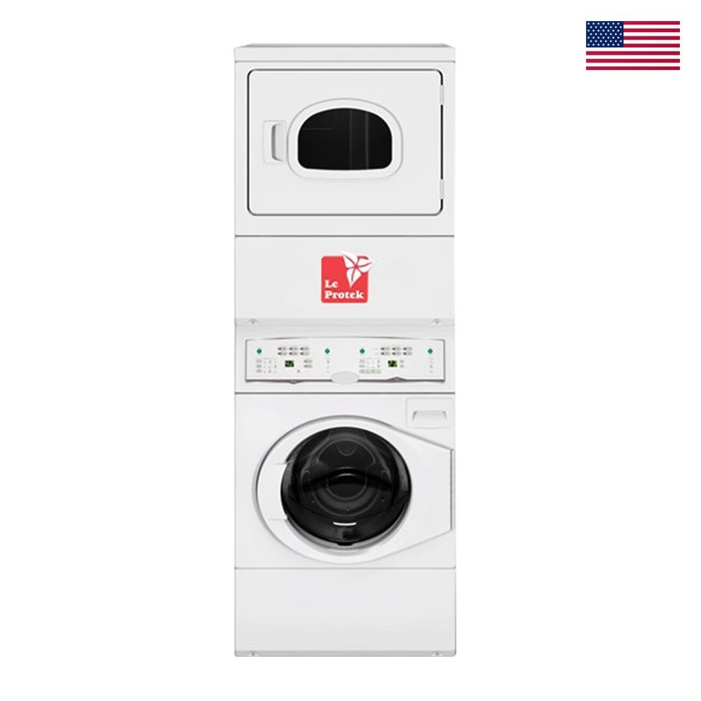 Le Protek Stack Washer, Dryer Electric Capacity- Washer:10.2, Dryer: 10.2 Kg