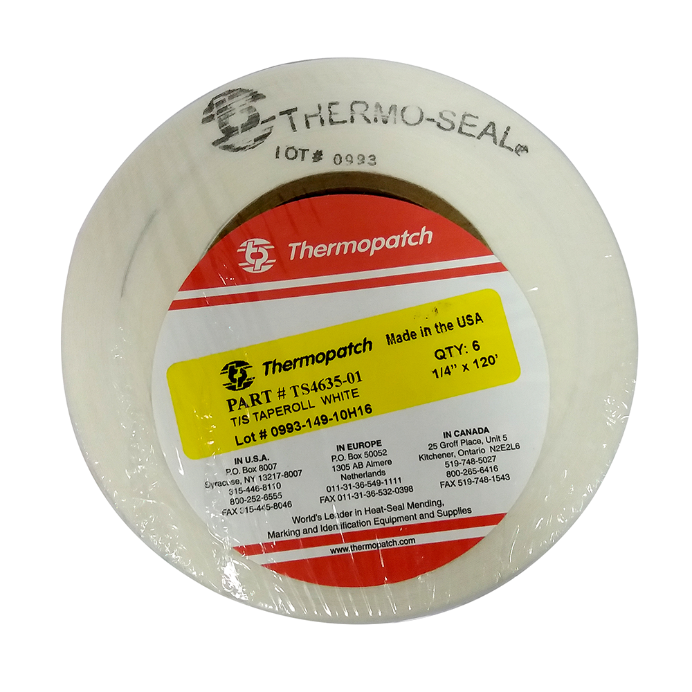 Thermopatch Marking Tape White (6 Rolls)